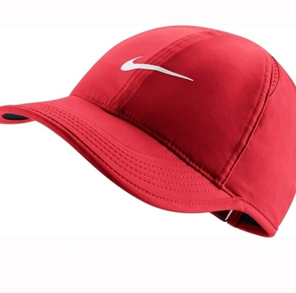 fd98580a Nike Accessories | Womens Featherlight Tennis Cap Red New | Poshmark